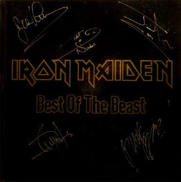 Iron Maiden Autographed