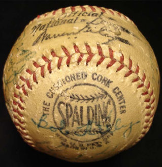 1952 Boston Braves Team Signed Baseball