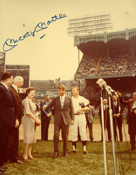 Mickey Mantle Signed RFK Photo